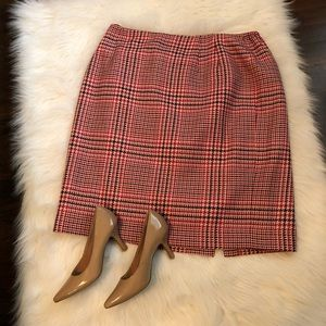 {Talbots} Plaid Skirt